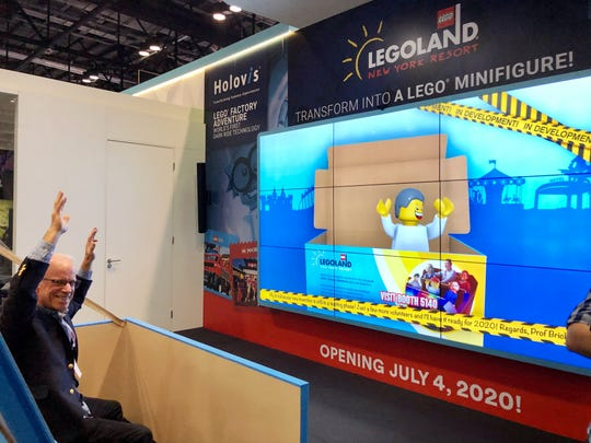 Writer Arthur Levine was turned into a Lego Minifigure at the IAAPA Expo. Visitors to the new Legoland New York opening summer 2020 will have the opportunity to be turned into Minifigures as well aboard the Lego Factory Adventure ride. Arthur Levine