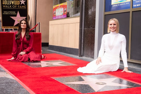 Kristen Bell and Idina Menzel are honored with the 2,681st and 2682nd stars on the Hollywood Walk of Fame in Hollywood, California, USA on November 19, 2019.