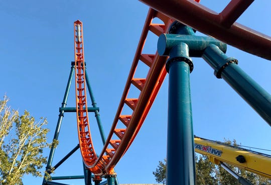 SeaWorld Orlando recently topped off the 93-foot tall spike that will be among the highlights of Ice Breaker, a multi-launch coaster coming in 2020.