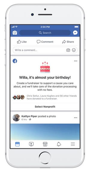 Facebook has raised more than $1 billion through birthday fundraisers