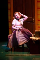 "Lauren Marcus as Miss Asp in Two River Theater's world premiere of ""Love in Hate Nation"" by Joe Iconis."
