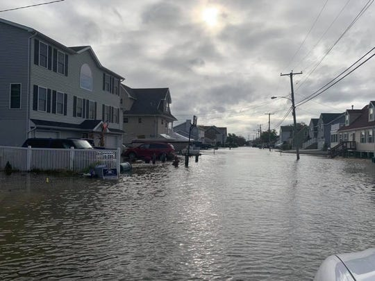 Tidal flooding in Waretown (Ocean Township) in October