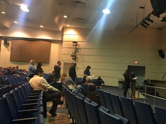 Audience members wait to speak at Toms River Regional Board of Education meeting on Nov. 20, 2019