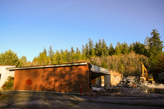 Demolition is underway at Seabeck Elementary, which has been closed since 2007.