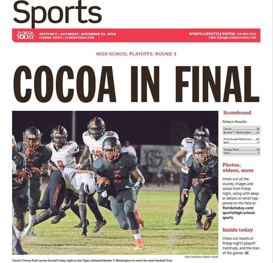 Nov. 25, 2016 — Cocoa 24, Miami Washington 21