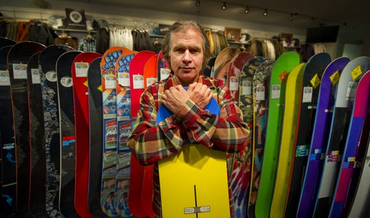 Jake Burton, founder of Burton Snowboards, is photographed in the flagship store in Burlington, Vermont, in 2010.