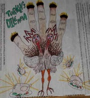 Free Press 2019 Hand Turkey submission by Anna Kaigle, 16
