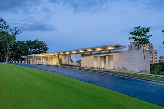 The Visitor Center at the Manila American Cemetery was designed by Richter Architects of Corpus Christi.