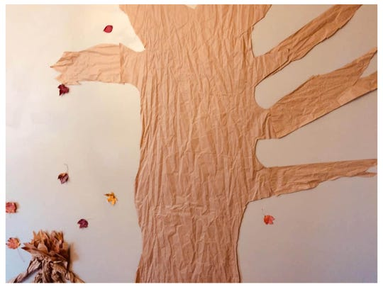 Every year James Hill and his family make a Thanksgiving Tree for others to write what they are thankful for on it.