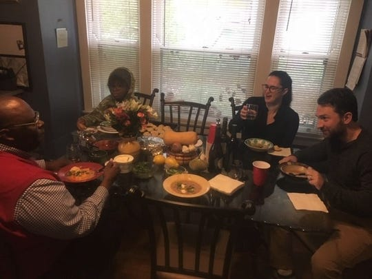 Enquirer columnist Byron McCauley got to know his neighbors better over soup.