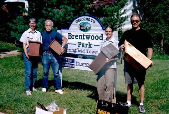 Lear's family helped Lear earn her Silver Award for Girl Scouts in sixth grade by building bat houses in Brentwood Park.