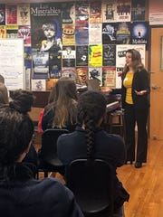 Broadway and film actress Renée Marino shares expertise with Mount Saint Mary Academy Theater music students.
