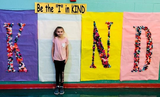 World kindness day at Three Bridges School, Madyson Pekarsky, third grade