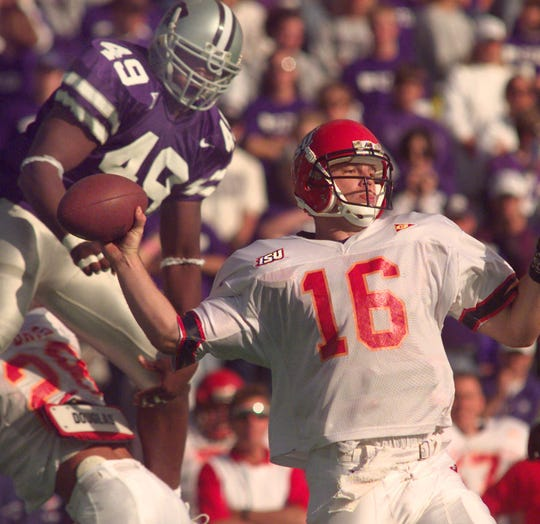 Iowa State quarterback Todd Bandhauer previously held the program's record for touchdown passes in a season with 20. Bandhauer set the mark in 1997.