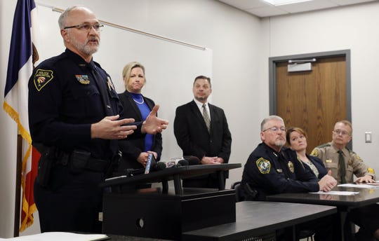 Burlington Police Chief Dennis Kramer speaks Wednesday, Nov. 20, 2019, about narcotics arrests in the Burlington area.