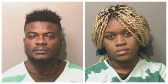Theodrick K. Wynter, 27, (left) and Princess M. Brown, 24, shown in their Polk County Jail mugshots Nov. 18, 2019.