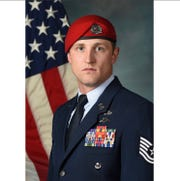 U.S. Air Force Tech. Sgt. Cody Smith, of Indianola, was awarded the Silver Star Friday for his actions to protect his fellow soldiers during a firefight in October 2018.