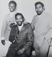 Lamont Dozier (from left), Eddie Holland and Brian Holland of the Detroit songwriting-production team Holland-Dozier-Holland, in the late 1960s.