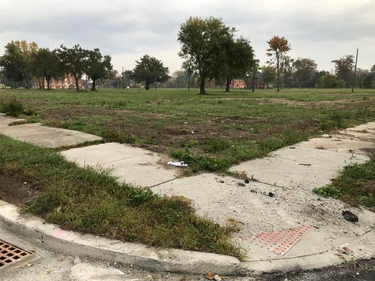 The big question facing Detroit's blight removal program is what to do with all the vacant land left post-demolition. This site was shot from the intersection of McClellan and Pontiac on the city's east side on Oct. 21, 2019.