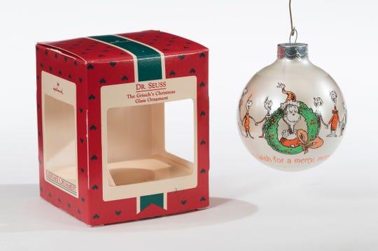 "Hallmark ""The Grinch's Christmas"" Christmas ornament,1987."