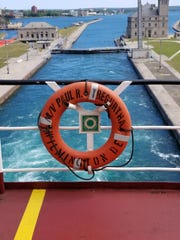 Going through the Soo Locks aboard a freighter August 2019.