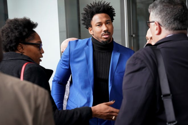 Myles Garrett is appealing his suspension and his case was heard Wednesday in New York by a league-appointed officer who will either lessen the penalty or put a definitive number of games on it.