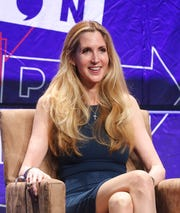 In this Oct. 20, 2018 file photo, Ann Coulter participates in a panel at Politicon in Los Angeles.