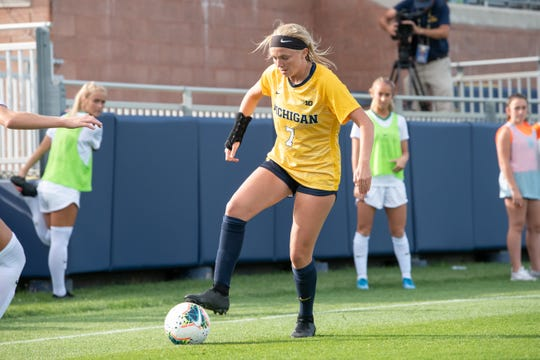 Midfielder Meredith has nine goals and two assists as Michigan's second leading scorer.