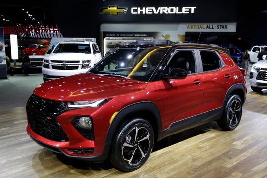 The 2021 Chevy Trailblazer is shown at the AutoMobility LA auto show.