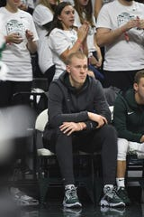 Michigan State forward Joey Hauser had his waiver for immediate eligibility denied by the NCAA, Spartans coach Tom Izzo said.