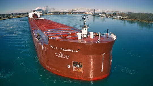 The 1,013.5-foot Great Lakes freighter Paul R. Tregurtha is the largest freighter operating on the Great Lakes.