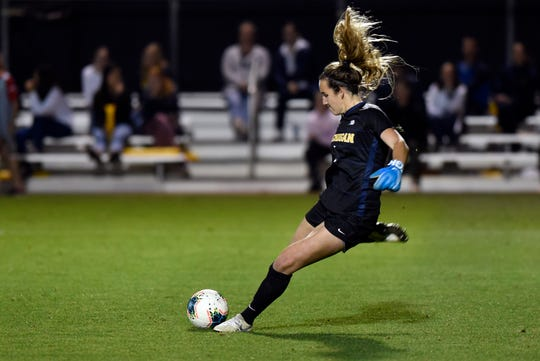 Junior goalkeeper Hillary Beall has started all 22 Michigan games and boasts a 0.84 goals-against average.