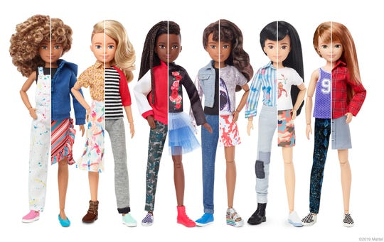 Mattel introduced a new line of customized dolls this fall called Creatable World.