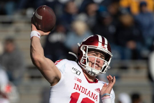 Indiana quarterback Peyton Ramsey is 144-of-198 (72.7 percent, which ranks fourth nationally and first in the Big Ten) for 1,673 yards, 10 touchdowns and three interceptions.