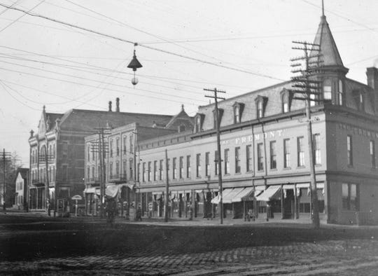 The Hotel Fremont as it looked in the late 1800s.