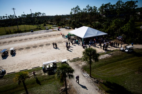 A groundbreaking ceremony is held at the future site of the Water School at Florida Gulf Coast University in Estero on Thursday, Nov. 21, 2019.