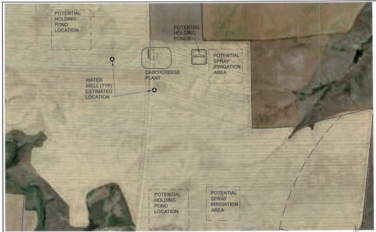 This site map of Big Sky Cheese shows the layout of the development.