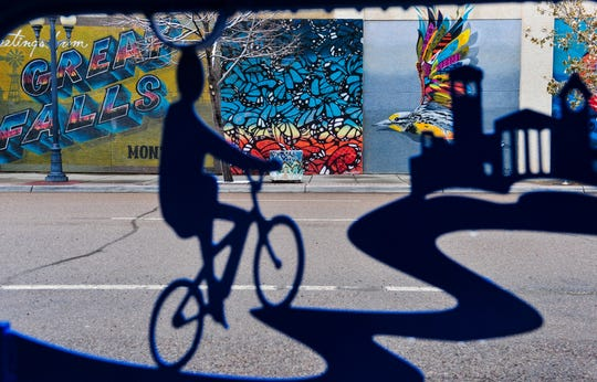 Murals on 5th Street South between Central and 1st Avenue South, Wednesday, November 20, 2019. Areas to the north and west of Great Falls are expected to be heavily impacted by a winter-weather event that started late Tuesday night.