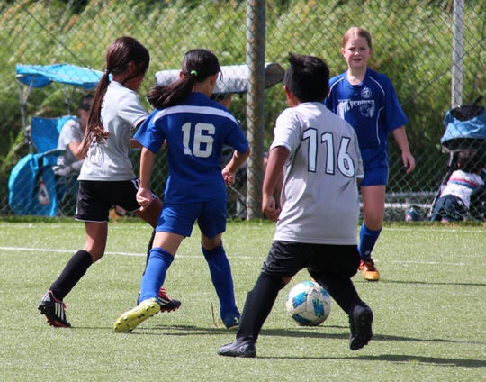 The Guam Shipyard Wolverines Blue and the GPSI Southern Cobras play in a Week 9 match of the Triple J Auto Group Robbie Webber Youth Soccer League's U10 division at the Guam Football Association National Training Center