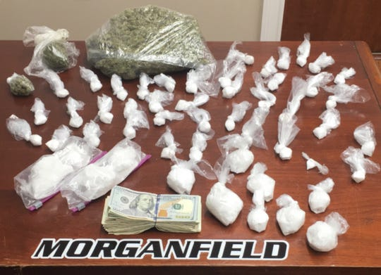 Morganfield drug bust found 1.1 lbs of Marijuana and 1.5 lbs of Methamphetamine at he scene.