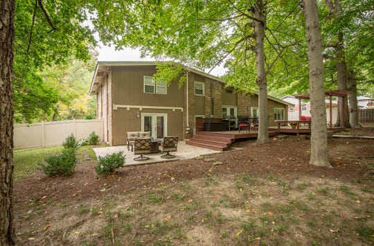 The home at 10811 Jordan Road in Carmel is on the market for $409,000. It features a fenced backyard, a fire pit and a deck.