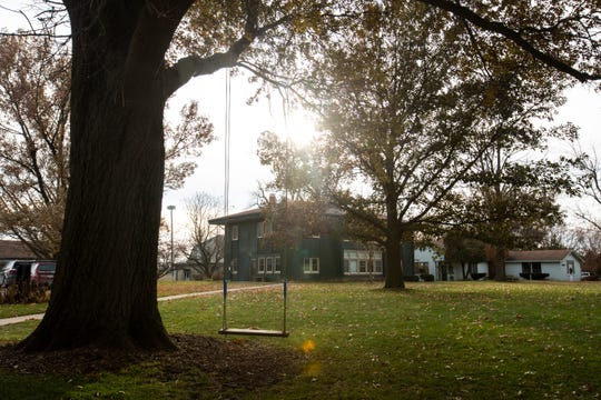 A swing sways in a light wind, Wednesday, Nov. 20, 2019, at Scattergood Friends School in West Branch, Iowa.