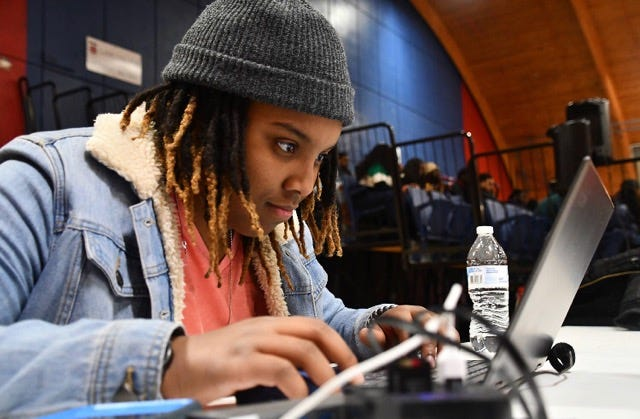 Lane College senior Jade Allen, a filmmaker, received the Ossie Davis Legacy Scholarship in honor of actors and activists Ossie Davis and Ruby Dee. Allen aspires to travel around the world as a documentary filmmaker, telling people's stories.
