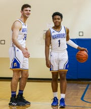 Bailey Conrad, left, and TJ Proctor will play crucial roles in leading the Warriors in the regionals.
