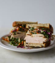 Mary Wheatley with Atlantic No. 5 offers her suggestion for Thanksgiving leftovers: a turkey power green sandwhich