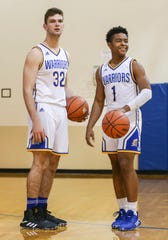 Christian Academy of Indiana's Bailey Conrad, left, and TJ Proctor will be helping lead the Warriors in the 2019-2020 basketball season. Nov. 20, 2019