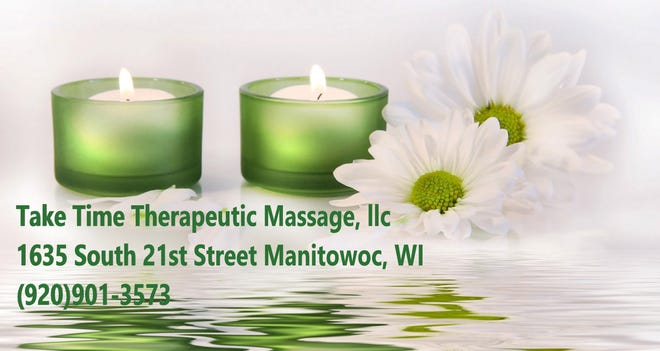 Take Time Therapeutic Massage, LLC, is owned and operated by Leah and is located at Felician Village at 1635 S. 21st St. in Manitowoc.