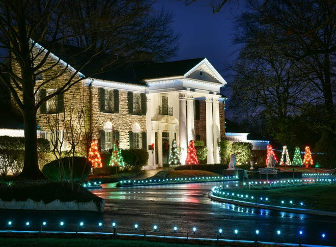Graceland at Christmas.