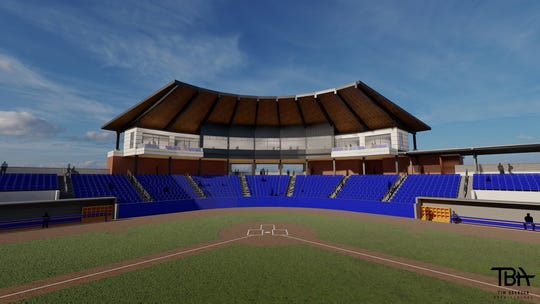 Rendering of what Louisiana Tech's new J.C. Love Field at Pat Patterson Field will look like.