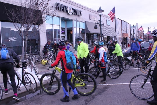 Cyclists carry 4,600 turkeys from Boonton to Denville during a Community FoodBank of New Jersey Turkey Drive in November, 2018.